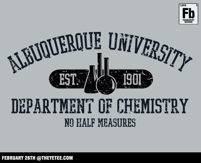"""Respect the Chemistry"" by fishbiscuit $11 for 24 hours at TheYetee.com"