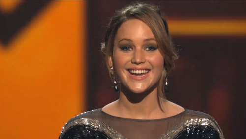 Jennifer Lawrence's face upon winning Best Actress