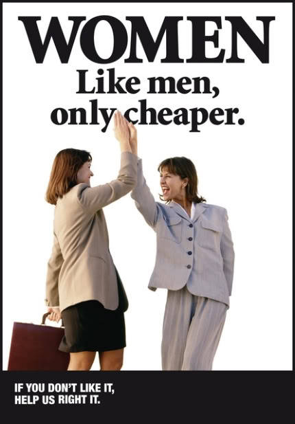 substitutingreality:  thingscanhope:  fix the pay gap.  True, women get paid less for the same job as men. But this is only part of the issue, not the whole picture.  http://www.infoplease.com/ipa/A0882775.html There is inequality between races as well. So much in fact that white women out earn black men. This isn't just a women issue, this is a human issue. The real problem is bigotry in general. EVERYONE should have equal pay for equal work.