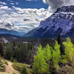 Mount Rundle and the Bow River Valley.