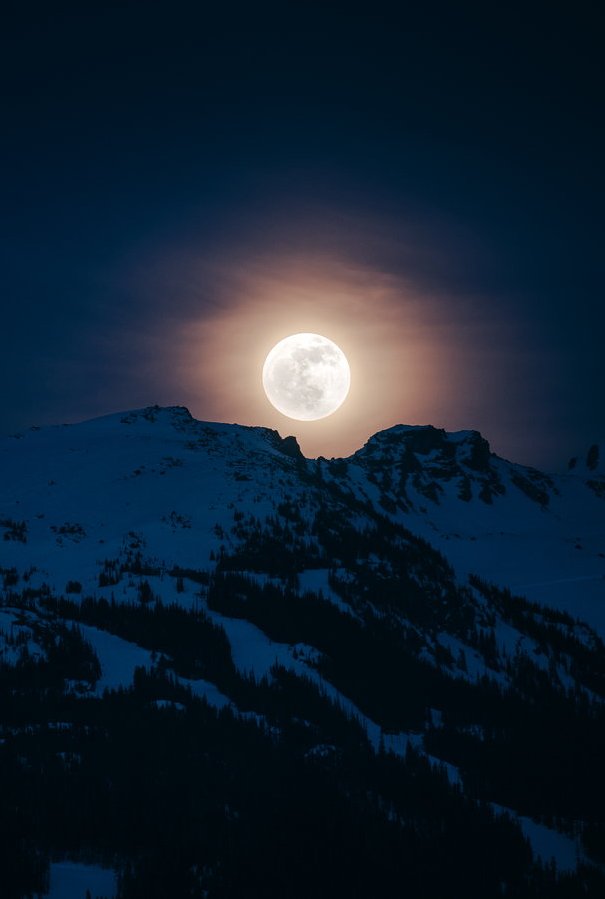 0rient-express:  Blackcomb Moon | by Owen Perry.