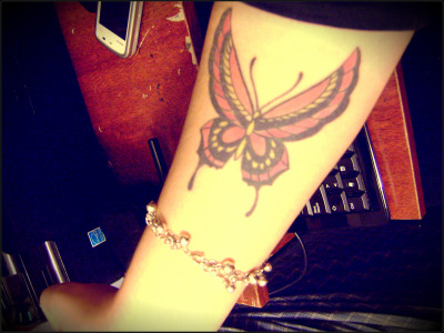 "This is my 1st tattoo, I got it over two years ago… The meaning that I give is :  ""Enjoy every moment of life"" ,  Because the butterflies generally have 24 hours of life. Done in my right forearm by Luciano Blanco, Mar del Plata, Argentina"