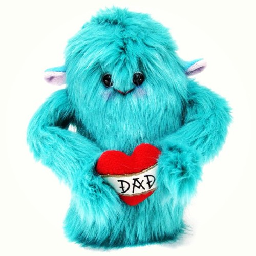 shanalogic:  Love Monster for Father's Day! http://www.shanalogic.com/dad-s-limited-edition-love-monster-plush.html #handmade #monster #fathersday #gift