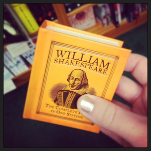 gemmals:  Have just bought the tiniest book on the planet. #reading #shakespeare #theatre #books