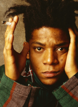 1986, New York, New York, USA Jean Michel Basquiat Image by © William Coupon/CORBIS