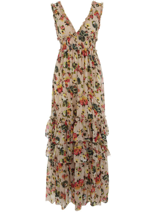 Multi Floral Ruffle Maxi Dress by Dorothy Perkins