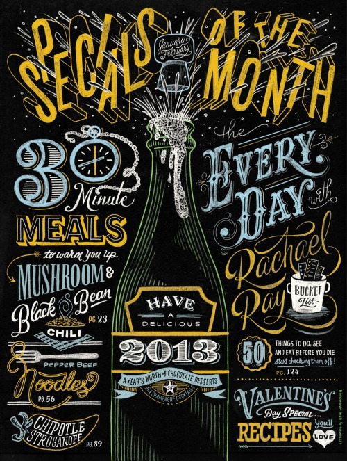 typeverything:  Typeverything.com - Rachel Ray Mag by Erik Marinovich (via Friends of Type)