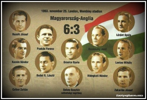 The Magical Magyars who famously beat England 6-3 at Wembley in 1953