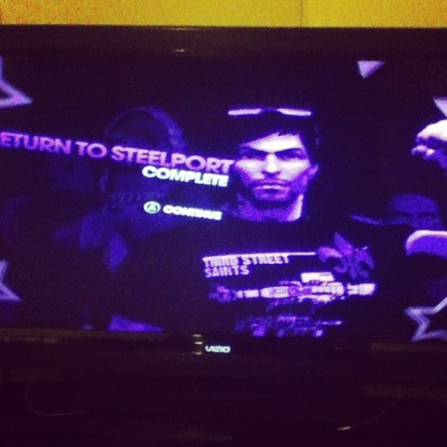 Playing saints row the third