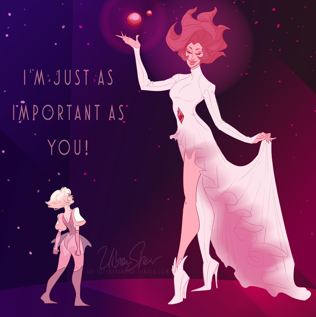 """I'm just as important as you!"" I looooooved the new episode and I love the little sad and angry little diamond. first thing that came to my mind was how horrible she must feel with all these big and..."
