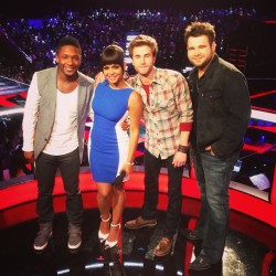 Congrats boys! You made it! #voiceresults #thevoice