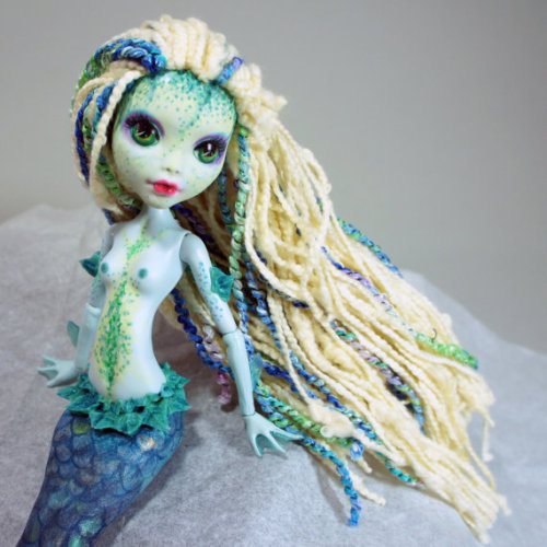 fyeahbjdmods:  Custom Lagoona Blue mermaid by DolliciousCustoms