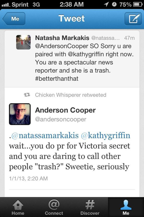 Anderson Cooper - For those who missed this morning, Anderson Cooper took some chick to college.