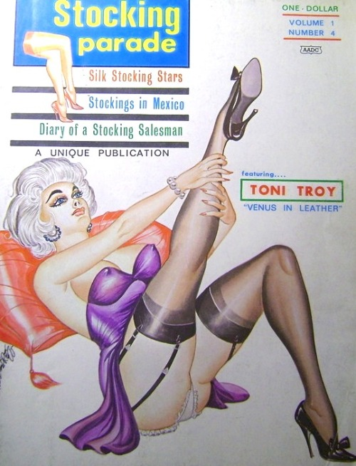 VINTAGE SLEAZE THE BLOG Story of Stocking Parade Magazine coming up!