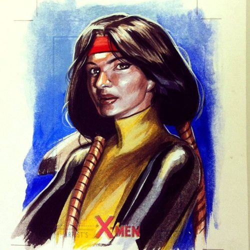 angelophile:  Dani Moonstar sketchcard commission by ~felipemassafera