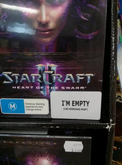 Starcraft II - Heart of the Swarm Subtle review is subtle… and clever… high five! - via Kotaku Australia btw thanks for the shoutout