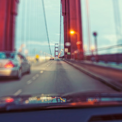 hug—life:  Driving on the Golden Gate, San Francisco