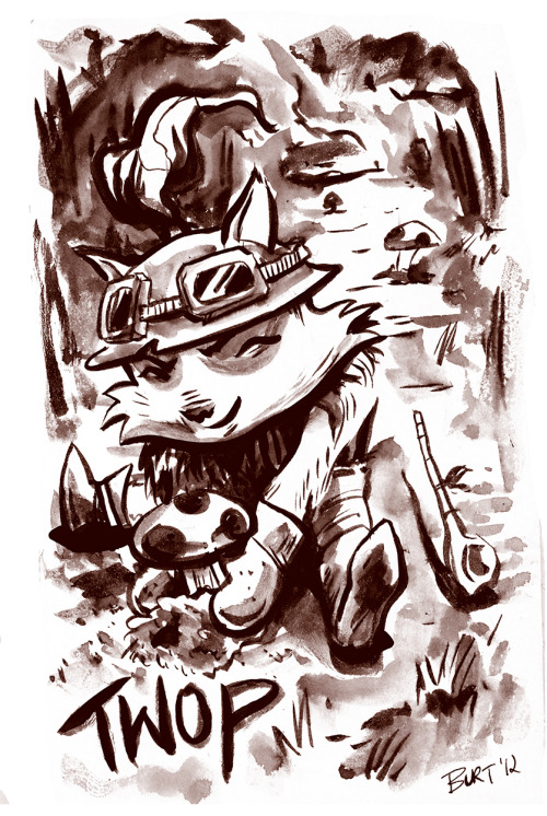 A bit of League of Legends fan art. Teemo sketch! -burt