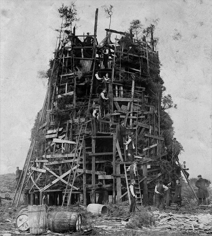 Ushaw College Bonfire, 1936 via Retronaut | Esh Parish Council
