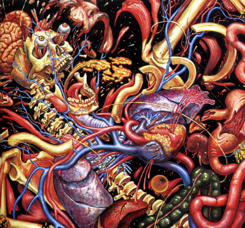 "siryl:  Detail of the triptych ""Journey of the Wounded Healer"" by Alex Grey."