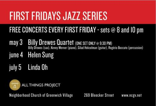 New Yorkers, catch a free show with Gilad Hekselman tonight at the Allthingsproject at Neighborhood Church of Greenwich Village! Playing with The Billy Drewes Quartet.