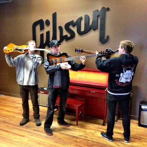 We are all connected. @gibsonguitars in Seattle.