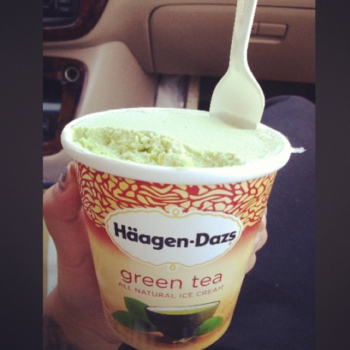 What? Since when? Lol. 🍵🍃 #häagen-dazs #greenteaicecream