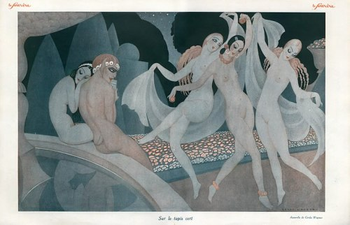 hoodoothatvoodoo:  Le Sourire 1926 Illustration by Gerda Wegener