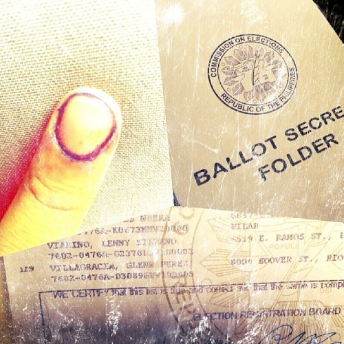 iVote2013!!! #election2013 #ballots #indelibleink #pinoy #filipino #philippines #politics #administration #instadaily #instacitizen #igers #igersph #igersmanila #igersmakati  (at Makati City)