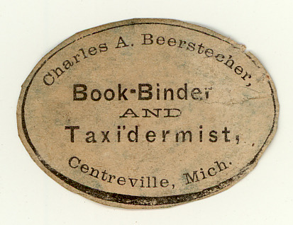 smithsonianlibraries:  Anyone else out there a Book-binder and Taxidermist?  I SO LOVE this for so, so many reasons. (My Dad was a taxidermist, but not a book binder. We lived in Michigan, but not Centreville)