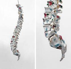 2headedsnake:  Maria Garcia-Ibanez 'Motionless' glazed ceramic, polychrome and gold