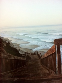 concealedsimplicity:  infinite-paradox:  Beach Stairs  El Capitan beach. Santa Barbara, California… where I go every year for beach camping. Love this place!