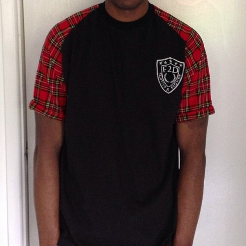 TARTAN SLEEVE TEE COMING IN 2 WEEKS #tartan #sleeve #tee #streetwear #f2d #f2dclothing #fresh2def #fashion #plaid #hiphop #instafashion #surviveANDprovide #igstyle #streetstyle #streetfashion #style