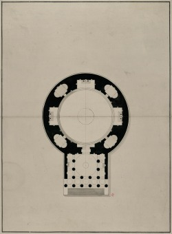 Plan for a church (anonymous, 18th century) +