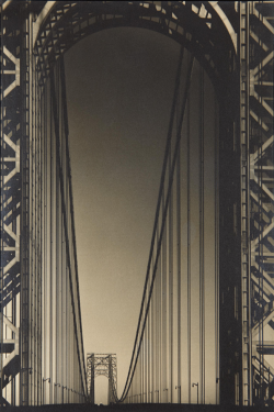mpdrolet:  George Washington Bridge, Hudson River, N.Y.C., c. 1931 Margaret Bourke-White