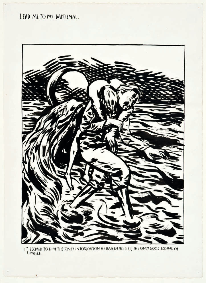Raymond Pettibon - Lead Me to My Baptismal,  1990