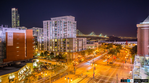 "junctioncreative:  ""The Ballpark with a View."" AT&T Park, San Francisco. (click for high res) Took a quick break from the Giants game to take a long-exposure shot of this breathtaking view. With vistas like this, there is no dispute that AT&T Park is one of the most beautiful in the Major Leagues.  [Follow junction creative on Twitter!]"