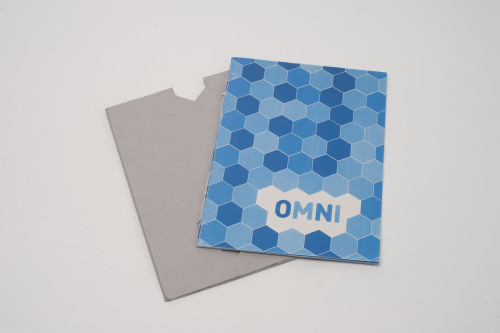 A booklet showing my idea for the workplace of the future. 'Omni', based on the RSA competition brief. For some spread designs see www.behance.com/timmarriott