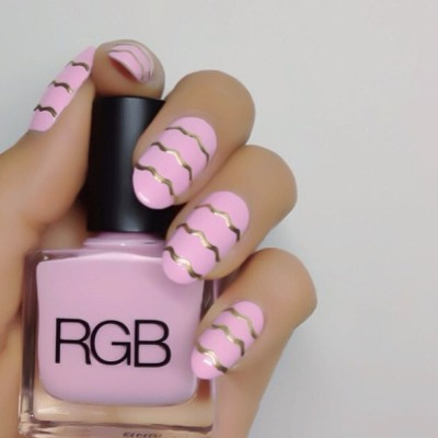 "nailinghollywood:  ""Pansy"" by @rgbcosmetics w/ a little #bling by @karengnails @nailinghwood #nailinghollywood #nails #nailart"