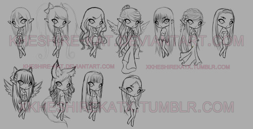 W.I.P. The Girls from Echo: (At least the ones i remember) Top Row: Mia, Alice, Arianna, Natasha, Sage, Maya, Tempest. Bottom Row: Maria, Tiffany, Meiline, Alleria, TBC…  These are NOT adoptable.