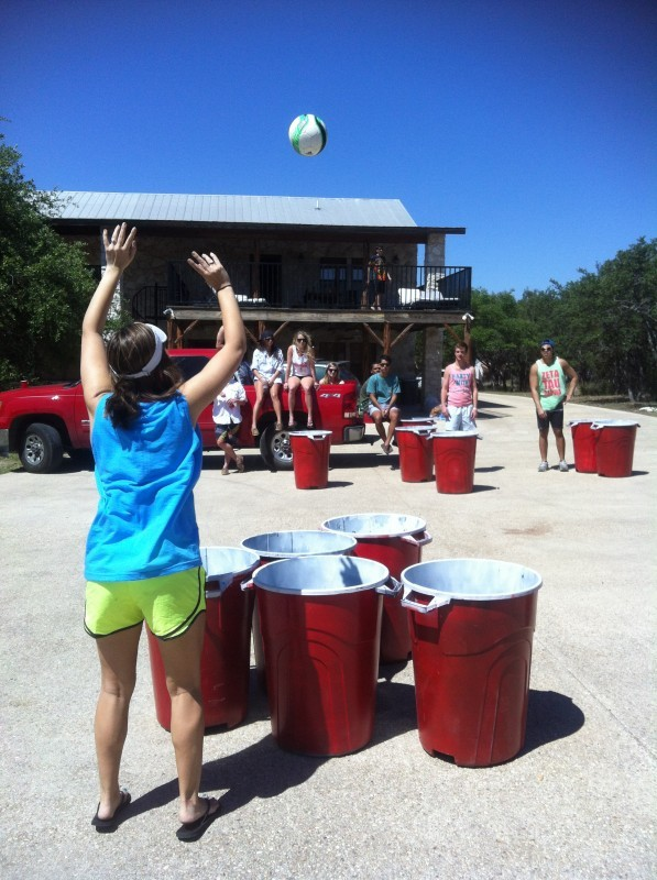 tfm-intern:  Even our beer pong is bigger in Texas. TFM.