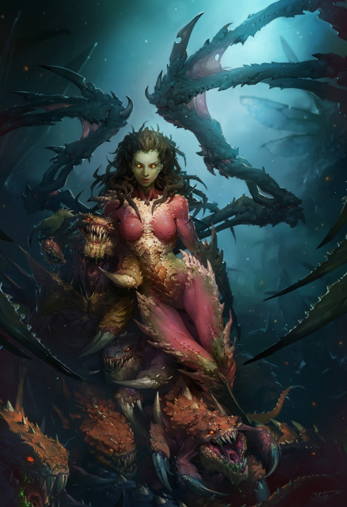 metaglyph:  Kerrigan, Queen of Blades by tully