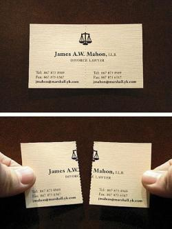 Brilliant business card.