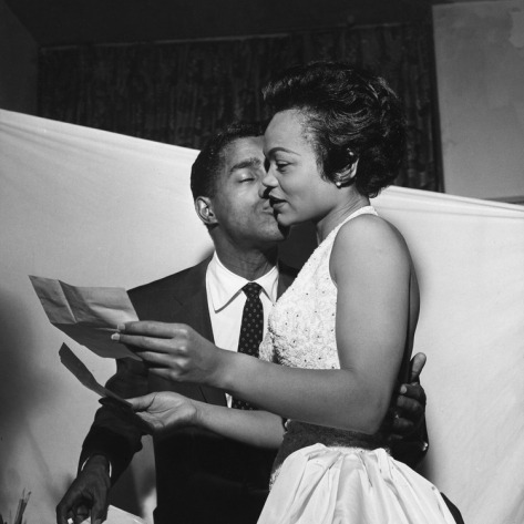 domishauntel:  I'm in love with this picture!! Sammy Davis Jr. & Eartha Kitt