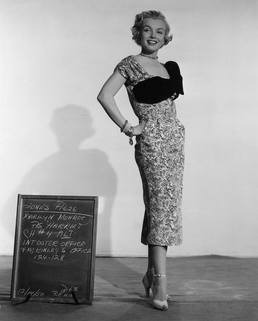 "Costume test for As Young As You Feel (1951)  Marilyn Monroe as ""Harriet"", 14 December 1950. (source)"