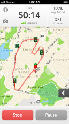 maps on RunKeeper