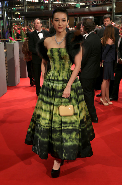 Hot! or Hmm… Zhang Ziyi's The Grandmaster Premiere Christian Dior Fall 2012 Couture Dress, Fendi Handbag, and Christian Louboutin Daffodile Pumps