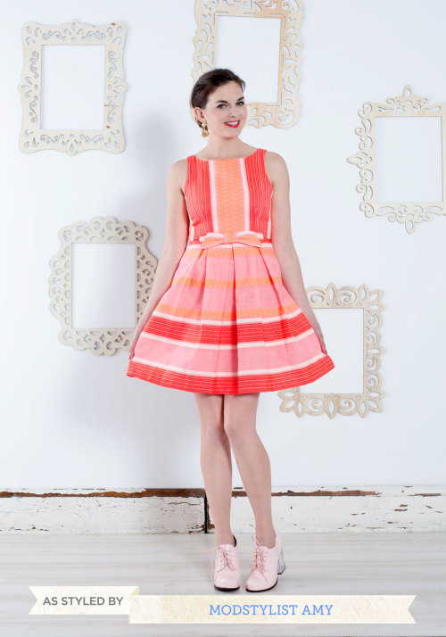 Loving this Grapefruit and Powerful Dress by Eva Franco paired with the Malt Shop Heel by Jeffrey Campbell. Perfect for a spring soiree!  <3 Amy, ModStylist Need styling suggestions, trend tips, or dress details? Ask a ModStylist and your question might be featured on our feed!