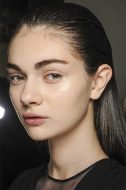 oncethingslookup:  Antonina Vasylchenko backstage at Giambattista Valli Fall 2013 RTW