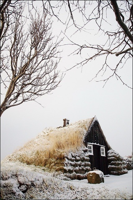 snowed in cottage, Iceland